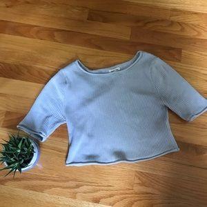 UO crop ribbed shirt